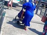 Blue hijab big ass